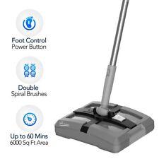 Electric Floor Sweeper- Rechargeable Cordless Floor Sweeper w/ Ergonomic Handle