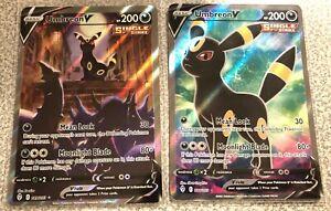 Pokemon Cards UMBREON V (Evolving Skies) ALTERNATE ARTS! 188/203 and 189/203!