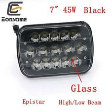 "7X6"" 45W Black LED Light Bulbs Clear Sealed Beam Headlamp Headlight Glass"