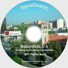 CA - Bakersfield 1971 Phone Book CD - Images + Text Searchable