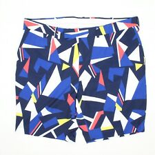 RLX Ralph Lauren Golf Shorts 40 Blue Red Yellow Abstract Print 2017 US Open