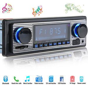 Classic look rétro Bluetooth 1Din MP3 Joueur USB SD AUX Autoradio Stéréo Vintage