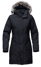 NWT THE NORTH FACE Women's Arctic Down Parka Coat Navy -Faux Fur Medium $299 NEW