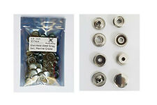 20 Completed Stainless Steel Snap Fasteners Stud Cap Post Marine Grade Snap Set