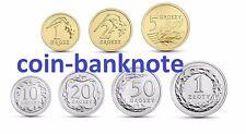 Polen Poland Polonia 1 2 5 10 20 50 groszy grosz 1 zloty 2018 set 7 coins UNC