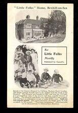 Sussex BEXHILL-ON-SEA Little Folks Home Children magazine advert PPC pre 1919