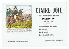 ancien buvard publicitaire Claire-joie Paris illustration J.B. Jourdan maréchal