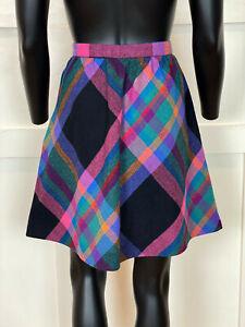 1970s Vintage Plaid Mini Skirt Size Small