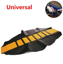 Universal Leather Gripper Soft Motorcycle Dirt Bike Seat Cover Rib Skin Rubber