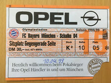 Ticket FC BAYERN MÜNCHEN - FC SCHALKE 1998/99 Bundesliga FCB S04 Eintrittskarte