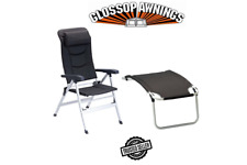 Isabella THOR CHAIR & FOOTREST Package Deal DARK GREY Lightweight Caravan Chair