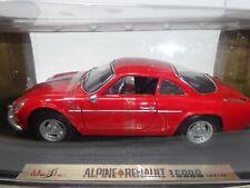 MAISTO 1971 red ALPINE RENAULT 1600S DIECAST CAR 1:18