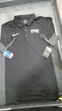 New listing Mens Nike Dri-Fit Texas Christian University Polo Black/Grey-Large