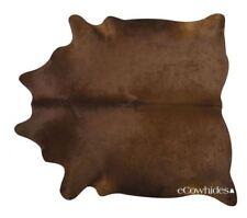 Dark Brown Brazilian Cowhide Cow Hide Area Rugs Leather Size XXL