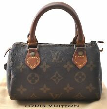 Authentic Louis Vuitton Monogram Mini Speedy Hand Bag Old Model LV A6220