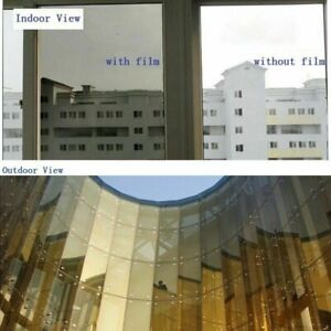 Mirror Reflective Window Tint Film Building Solar Gold & Silver VLT 20%