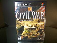 The History Channel - Civil War: A Nation Divided  (Sony PlayStation 2, 2006)