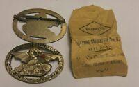 WWI WW2 Spilla Carristi Esercito Italiano con bustina Orig. Bomisa