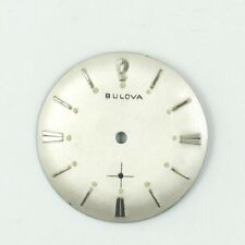 USED BULOVA 11AF SWISS 28MM SILVER WATCH DIAL