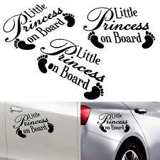 Car Body Decal Baby Feet Little Princess On Board Bumper Window Vinyl Stickers