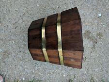 "Vntg Mcm Old Cedar Wooden Rustic Decor Planter 10"" tall X 12"" top 8 1/2"" bottom"