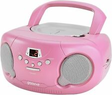 Groov-e Boombox Portable CD Player with Radio in Pink
