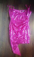 Sequin Asymmetric Wrap Bodycon Asos  Dress Size 14