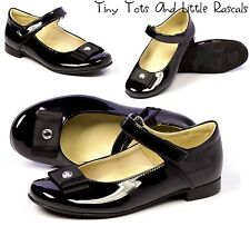 Toddler Girls Patent School Occasion  Shoes Pumps Leather Insole Sizes UK 8 - 3
