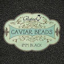 GlateeQ 40g Black 1mm Caviar Beads - Craft, Nail Art & Ciate Style Manicure