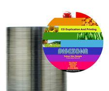 CD Vervielfältigung - 100 CD/DVD Thermal bedruckt & dupliziert-Bulk verpackt