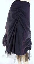 Jupe JENNYFER Noir rose fronces volant résille Aux Genoux Fête T. 38 / M / 2