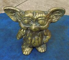 RARE VINTAGE HEAVY BRASS GIZMO GREMLINS ORNAMENT OR PAPERWEIGHT 1984 FILM ICON