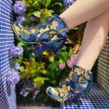 Irregular Choice ''Royal Velvet'' (C) Stiletto Heel Zip Up Ankle Boots Shoes