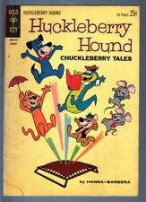 HUCKLEBERRY HOUND #19-CHUCKLEBERRY TALES-1963 GIANT ED-TOP CAT-PIXIE & DIXI VG