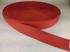 25 feet of 1 inch wide RED cotton tape Webbing apron bunting trim lightweight
