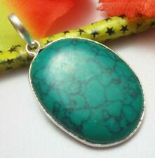 Turquoise Gemstone Pendant 925 Silver Plated U219-A78