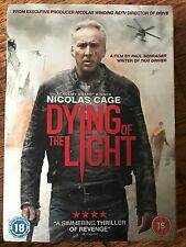 Nicolas Cage DYING OF THE LIGHT  2014 Paul Schrader Thriller UK DVD w/ Slipcover