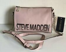 NEW! STEVE MADDEN BLEXI LOGO BLUSH PINK CROSSBODY SLING BAG PURSE SALE