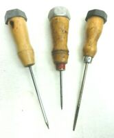 Vintage Lot of 3 Ice Picks Goodell Taiwan Unbranded