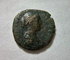 AE AS. FAUSTINA JR. WIFE OF MARCUS AURELIUS. 161-175 AD. CONCORDIA REVERSE.