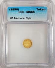 (1856) California Gold Fractional Token ICG MS-66