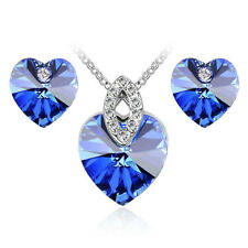 Something Blue for Wedding Prom  Royal Blue Jewellery Earrings Necklace Set S980