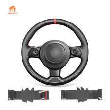 MEWANT PU Carbon Fiber Leather Car Steering Wheel Cover for Toyota 86 Subaru BRZ