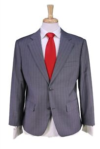 Custom Made! Canvassed Light Gray w/ Pink Pinstripe Super 150's Wool 2B Suit 42S