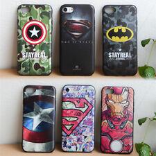 Cool Super Hero Cartoon Avengers Soft TPU Phone Case Cover For iPhone 5 6 7 PLUS