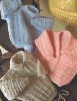 """Baby Sweater, Shirt and Cardigan Knitting Pattern in DK 16-22"""" 1028"""
