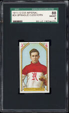 1911 C55 Imperial Tobacco #24 Sprague Cleghorn RC (HOF, Renfrew) SGC 88 NM-MT