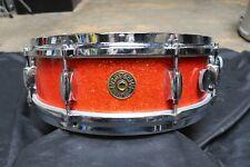 Gretsch 4x14 Tangerine Sparkle Progressive Jazz Snare Drum Vintage 1960's