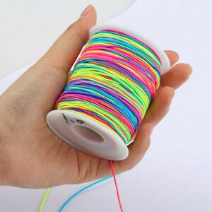 10/12/15MM Round Elastic Cord Beading String for Bracelet Jewelry DIY Craft Trim