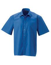 Camicie classiche da uomo blu in cotone 41-42